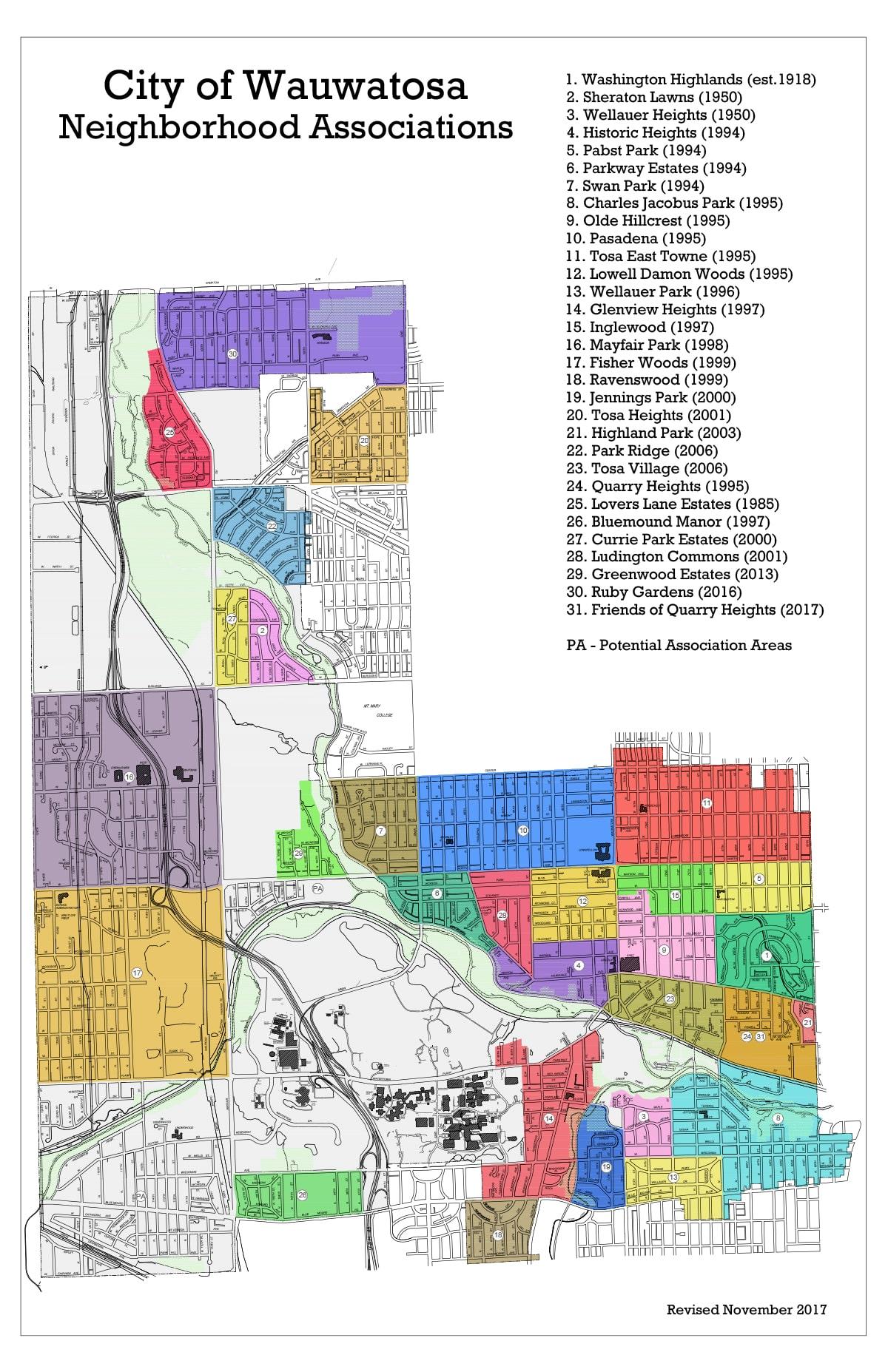 Neighborhoods Wauwatosa Neighborhood Association Council